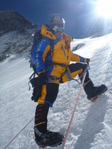 Alyssa Azar on Lhotse face