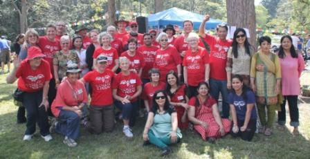 Volunteer red shirts who help to make all our functions successful
