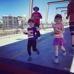 Heidi and Aishling on the run