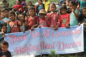 helping hands banner