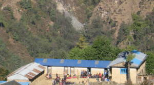 Chermading school with renovated tin roof prior to the earthquake